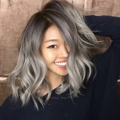 """#MetallicObsession using Silver Metallics @Kenra_Haircare #GuyTang  Silver Hair Don't Care"""