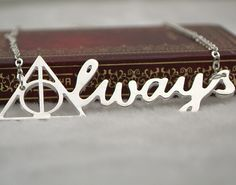 harry potter always necklace silver deathly hallows letter pendant for men and women wholesale