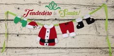 Tendedero Santa (con patrones)