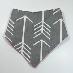 A personal favorite from my Etsy shop https://www.etsy.com/listing/454167378/reversible-arrow-print-bandana-teething