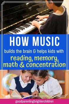 6 powerful music activities for elementary-age kids & young children that increase reading, math, memorization and concentration skills. Music makes the reading process easier for kids—learn what music neuroscience teaches. Music Activities For Kids, Movement Activities, Music For Kids, Infant Activities, Learning Activities, Learning Tips, Kids Learning, Listening Skills, Reading Skills