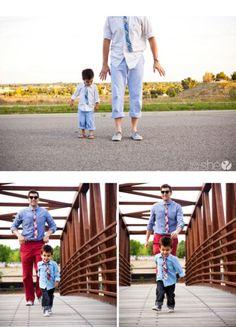 Padre e hijo vestidos igual, una buena idea!