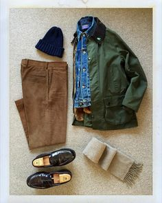 G Gents Fashion, Workwear Fashion, Fashion Outfits, Stylish Mens Outfits, Casual Outfits, Ivy League Style, Barbour Jacket, Herren Outfit, Moda Casual