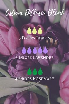 Ostara Essential Oil Diffuser Blend with lemon, lavender and rosemary | The Witch of Lupine Hollow