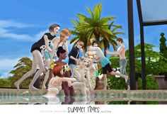 Sims 4 CC's - The Best: SUMMER TIMES POSES SETS by Flower Chamber