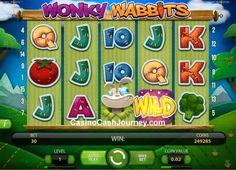 Wonky Wabbits is a 5 reel, 15 payline, Net Entertainment (NetEnt) non Progressive video slot machine. More this way... http://www.casinocashjourney.com/slots/net-entertainment/wonky-wabbits.htm