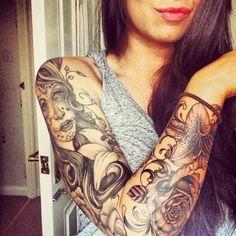 Tatto Feminina || Braço Fechado
