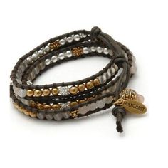 Hultquist Wrap Bracelet with Semi Precious Stone and Glass Beads on Brown Cord | lizzielane.co.uk. http://www.lizzielane.co.uk/shop/hultquist-wrap-bracelet-with-semi-precious-stone-and-glass-beads-on-brown-cord £44