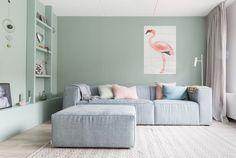Pastel woonkamer bij Laura en Erwin uit aflevering 1, seizoen 3 | Make-over door: Kim van Rossenberg | Fotografie Barbara Kieboom