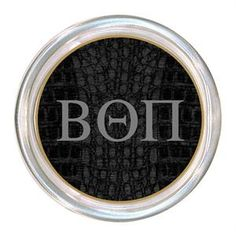 C1983-Beta Theta Pi on Black Crock Coaster $24.00 #BetaThetaPi