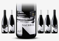 Nachbil, monochrome label design