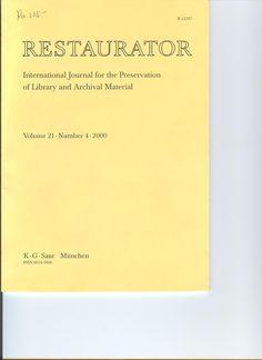 Restaurator Copenhague Munksgaard.  Fondo en Bellas Artes : (1994) 1995-2000. Fondo en digital : 1998,19(1)-