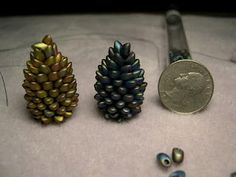 Barb Grainger's Long Magatama Bead Pinecone