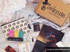 #owlcrate A monthly subscription box for book lovers! Each box contains a new YA novel and goodies!