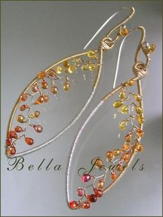 Modern Lines and SparksMixed Metal Leaf Framed by bellajewelsII