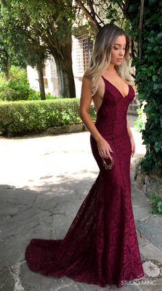 bf39d983b7 MAROON MYTHICAL. Maroon Prom DressRed Lace Prom DressMermaid ...