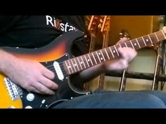Martin with riffstation.com playing the guitar solo from Comfortably Numb from Pink Floyd.