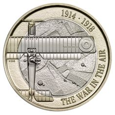United Kingdom - The First World War Aviation coin remembers The Royal Flying Corps and its contribution to the defence of Britain's skies in the First World War using new aircraft technology. English Coins, Sell Coins, New Aircraft, Coin Design, Coin Worth, Mint Coins, Old Money, Commemorative Coins, Coin Ring