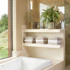 Contemporary Bathroom Design By Alan Mascord Design Associates Inc. Great idea for storage by the bathtub