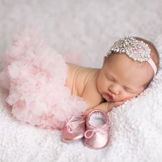 Newborn Baby Ballet Slippers - Classic Ballerina Pink leather shoes #newbornbabyphotography