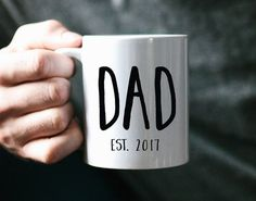 Hey, I found this really awesome Etsy listing at https://www.etsy.com/listing/294445877/dad-gift-new-day-gift-dad-mug-funny-dad