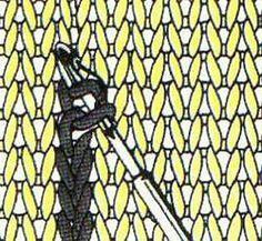 Вязание спицами - Вышивка на вязаном полотне
