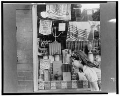 New York, New York. Window of a Jewish religious shop on Broom Street - http://www.loc.gov/pictures/item/owi2001009507/PP/
