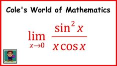 Limit of sin^2x/(x cosx) ❖ Calculus 1 ❖ Trig Limits