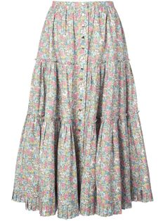 Marc Jacobs The Prairie skirt - Multicolour Skirt Outfits, Cute Outfits, Fall Outfits, Wardrobe Images, Prairie Skirt, Handkerchief Dress, Cute Skirts, Aesthetic Clothes, Casual Dresses For Women
