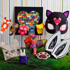 Fuel your child's love for animals this Valentine's Day! 8 fun DIY crafts with an animal theme give kids the fun of making their own art to display or give! Includes everything they'll need to create an animal mask, a cute necklace, the world's most adorable yarn lion, animal ear headbands, and more.