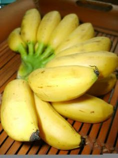 "Pisang Emas - ""Gold Banana"" is shorter, thinner skinned and sweeter than the more common ""Cavendish"" bananas found in our grocery stores."