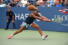 Action continues on Day 3   August 31, 2016 - Naomi Osaka of Japan in action against Ying-Ying Duan of China during the 2016 US Open at the USTA Billie Jean King National Tennis Center in Flushing, NY.