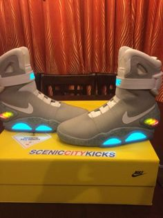 9bc4082b75cee2 Details about 2011 Nike Air Mag Back To The Future MartyMcfly Brand New DS   876 US Men Size 10