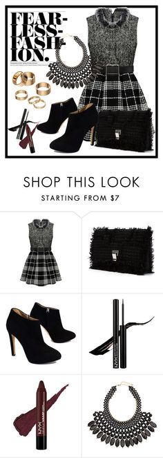 """""""Fearless Fashion"""" by christinacastro830 ❤ liked on Polyvore featuring Proenza Schouler, Giuseppe Zanotti, H&M, Apt. 9, women's clothing, women's fashion, women, female, woman and misses"""