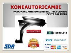 PARAFANGO ANTERIORE ANT DX DESTRO FIAT GRANDE PUNTO 05/>09 DAL 2005 AL 2009
