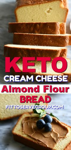 My recipe for keto cream cheese almond flour bread makes a great basic white bread loaf. The perfect low carb bread for when you are missing bread while doing keto.  It has an airy, light texture that is not at all eggy. Best of all it's made with easy to come by ingredients. #ketobread #lowcarbbread #ketocreamcheesebread #lowcarbcreamcheesebread