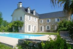 Reconstructed French stone farmhouse - with a pool.  Best of both worlds.