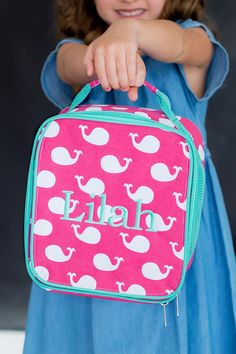 Help keep track of your child's lunch with these stylish, personalized soft-sided school lunch bags. Available in 6 pattern options. These lunch boxes are the perfect compliment to your back-to-school routine, making it easy for little ones to find their lunch come meal time. These lunch bags can be ordered at http://www.tippytoad.com/personalized-soft-sided-school-lunch-bags.asp