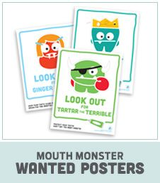 Mouth Monsters: help kids keep their mouth clean and fight tooth decay with this fun site!