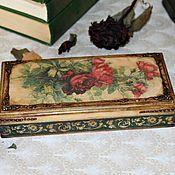 Для дома и интерьера ручной работы. Ярмарка Мастеров - ручная работа купюрница винтажные розы. Handmade.