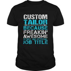 CUSTOM TAILOR T-Shirts, Hoodies. CHECK PRICE ==► https://www.sunfrog.com/LifeStyle/CUSTOM-TAILOR-109755137-Black-Guys.html?id=41382