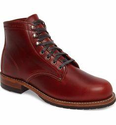 Wolverine Evans Plain Toe Boot Red (Men)