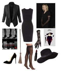 """Halloween Costume Fiona Goode"" by michellejanelle15 on Polyvore featuring Coven, LE3NO, New Look, Cosabella, Black and Rubie's Costume Co."