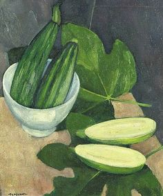 'Zucchini and Bowl' - Felice Casorati (1883-1963)