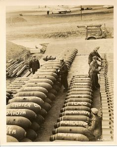Believed to be the Bomb dump at RAF Deopham Green, Norfolk, circa 1944. Total War, Vintage Airplanes, World History, World War Ii, D Day, Model Airplanes, Military History, Warfare, Military Vehicles