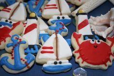 Miniature nautical cookies - CookieMamas.etsy.com