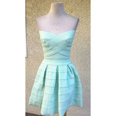 Seafoam green elastic fit and flare dress A beautiful fit and flare dress, made of an elastic fabric, has plenty of stretch and very flattering to your figure with dress you can't go wrong. Never used. Dresses