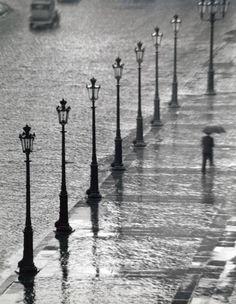 Place Gambetta, Paris 1929 - by André Kertész