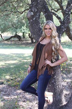 On the Ranch vest fringe vest