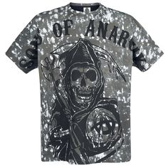 """Sons Of Anarchy Camiseta """"Reaper Dyed"""" Gris • EMP"""